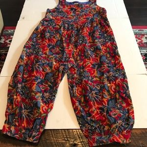 Vintage 90s Laura Ashley Jumpsuit Corduroy Floral